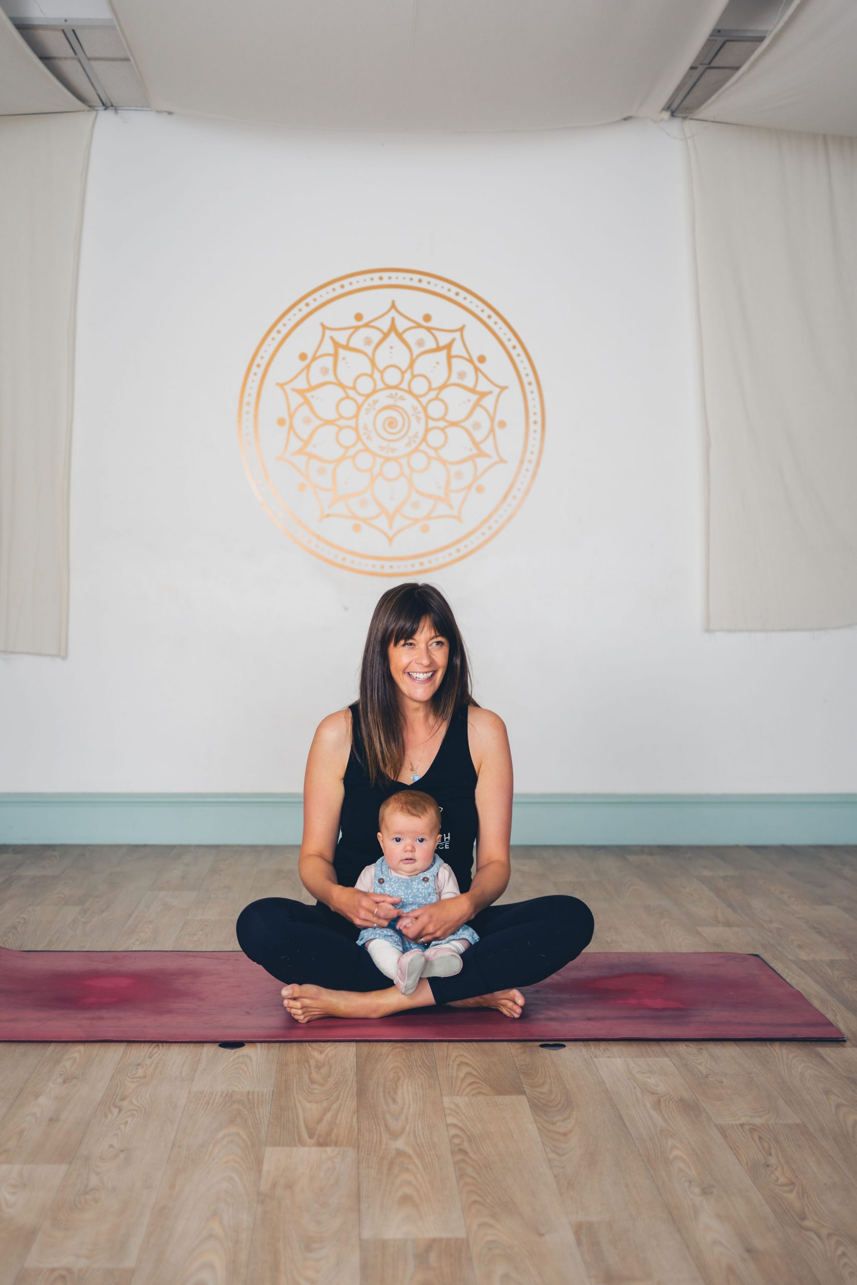 Yoga for mums and baby Cornwall Falmouth